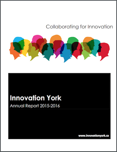 Innovation York Annual Report Cover 2015-2016
