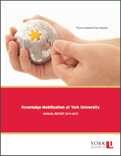 Knowledge Mobilization Annual Report Cover 2014-2015