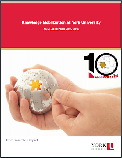 Knowledge Mobilization Annual Report Cover 2015-2016